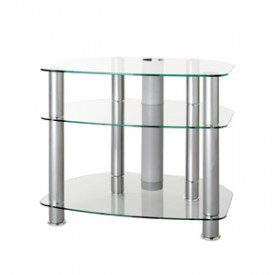 "Alphason Clear/Silver Cabinet for screens 19""-32"""