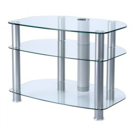 "Alphason Silver/Clear Cabinet for screens 26""-42"""
