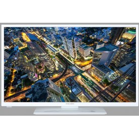 "Mitchell & Brown 24"" White LED Television with a Free 7 Year Warranty"
